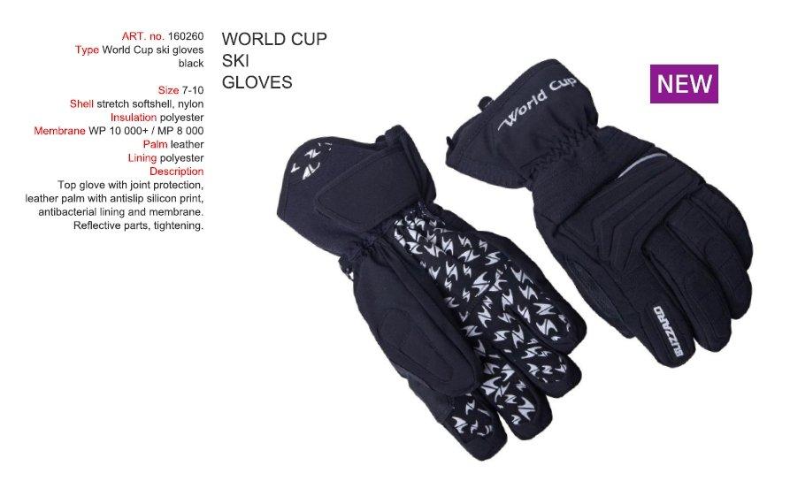 Blizzard World Cup Ski Gloves black Zvětšit c0479b6037