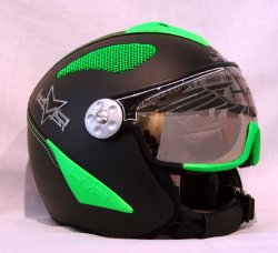 HMR H2 Air black/green finish + štít TOP