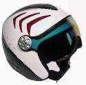 HMR H2 R white/carbon/red+ štít VTM006
