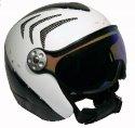 HMR H2 R white/carbon/silver + štít VTM008