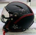 HMR H1 Soft blk./bord. leather + štít VTS1