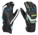 Leki Worldcup Race Coach Flex S GTX black-white-cyan-yellow