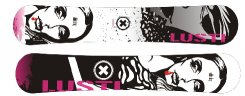 Snowboard Lusti Freestyle twin sidewall - White drug